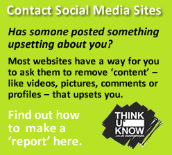 Contact social media site button